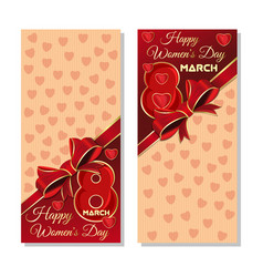 happy international womens day festive background vector image vector image