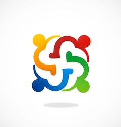 love teamwok diversity people logo vector image
