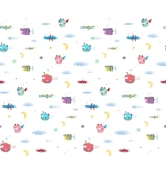 Monster Fly Fish seamless pattern for Kids Design vector image vector image