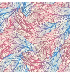 Seamless vintage pastel pattern with feathers vector image