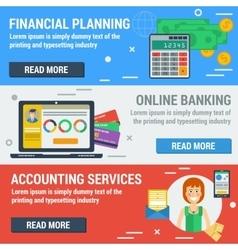 Three horizontal banners FINANCIAL ACCOUNTANT vector image