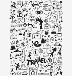 Travel transportation doodle vector