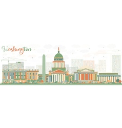 Abstract Washington DC Skyline vector image vector image