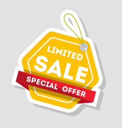 Limited sale isolated retail label vector