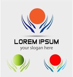 Sun logo Icons element Set vector image vector image
