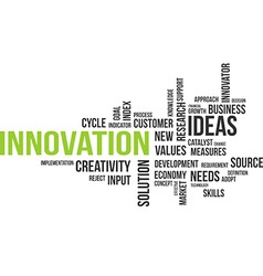 word cloud innovation vector image