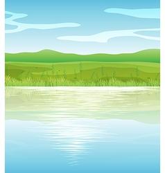 A calm blue lake vector image vector image
