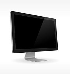 black lcd screen sideview vector image vector image