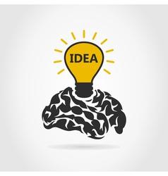 Idea of a brain vector image