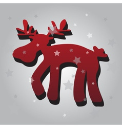 one isolated christmas red reindeer 3d eps10 vector image vector image