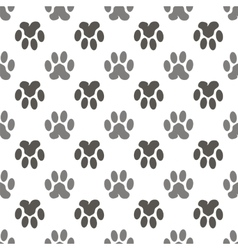 Seamless Cat Animal Paw Pattern vector image vector image