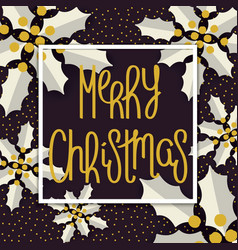 traditional merry christmas design vector image vector image