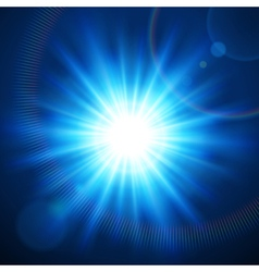Abstraction light with lens flare vector image vector image