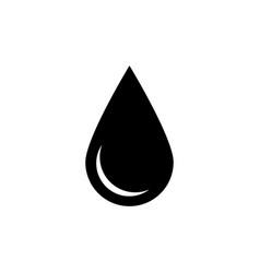 black drop icon oil or water symbol simple flat vector image vector image