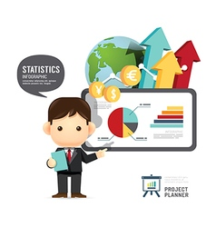 Business design conference man infographic present vector