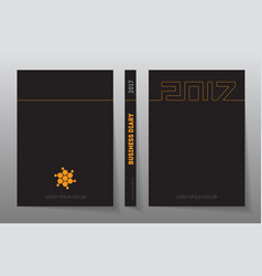 cover business diary for 2017 with logo design vector image