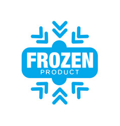 frozen product sticker for food with snowflake vector image