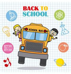 school bus with children vector image