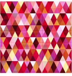 seamless geometric red pattern vector image
