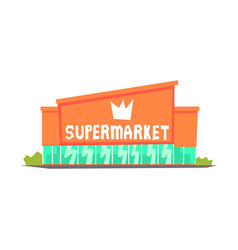 supermarket mall building colorful vector image