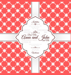 vintage red spanish pattern invitation card vector image vector image