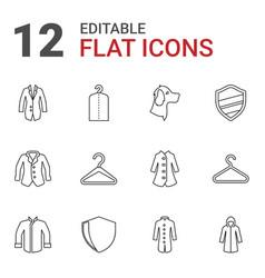 12 coat icons vector