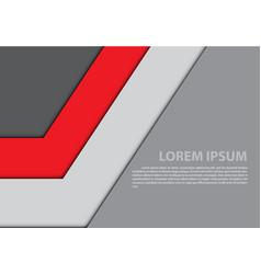 abstract red gray arrow design modern vector image