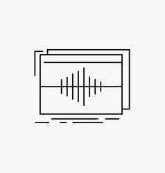Audio frequency hertz sequence wave line icon vector