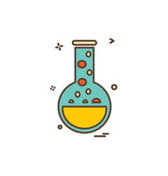 beaker flask lab icon design vector image