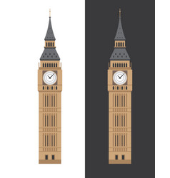 big ben clock tower flat vector image