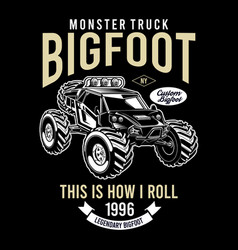 bigfoot custom monster truck vector image