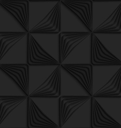 Black 3d striped triangles wind turns vector