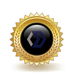 blocknet cryptocurrency coin gold badge vector image