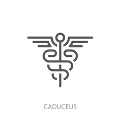 caduceus icon vector image