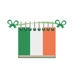 Calendar date st patricks day icon vector