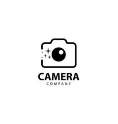 Camera logo design outline monoline vector