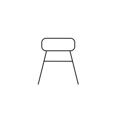 chair icon stool line icon vector image vector image