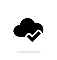 Check cloud simple icon on white background vector image