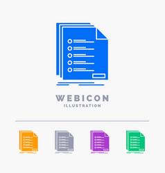 Check filing list listing registration 5 color vector