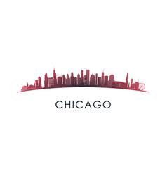 chicago illinois skyline silhouette design vector image