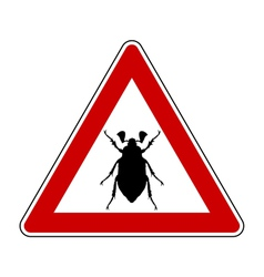 cockchafer attention sign vector image