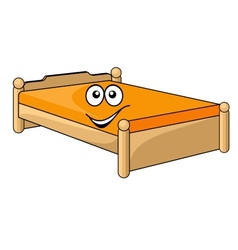 Comfortable cartoon bed vector image