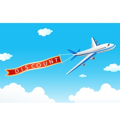 discount tag with plane vector image