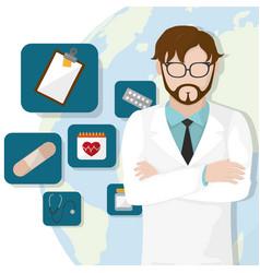 doctors day design vector image