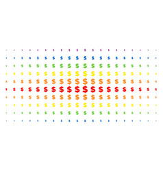 dollar spectral halftone effect vector image
