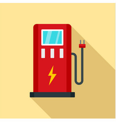 electric car station icon flat style vector image
