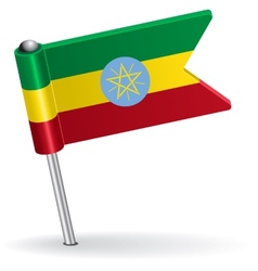 Ethiopian pin icon flag vector