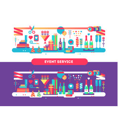 event service design flat vector image