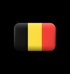 Flag of belgium matted icon and button vector