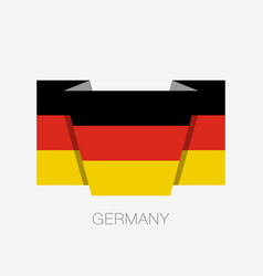 Flag of germany flat icon waving flag with vector